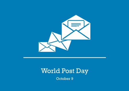 World Post Day vector