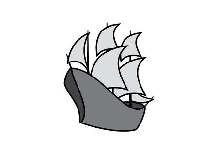Sailing boat illustration.