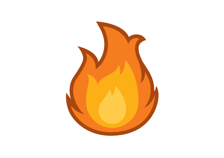 Flame icon vector. Fire vector. Fire on a white background