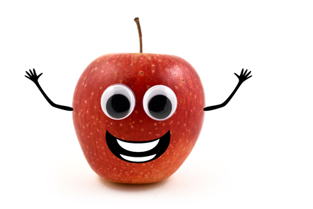 funny apple stock images cheerful apple character red apple