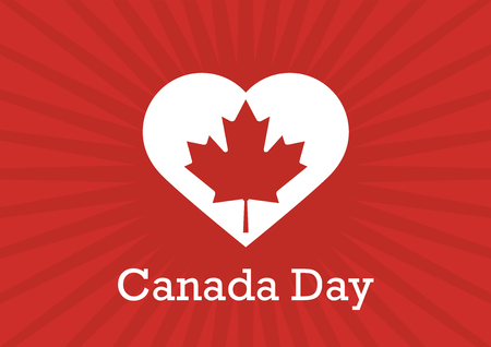 Canada Day vector. Canadian maple leaf. Festive vector illustration. National day of Canada. Important day