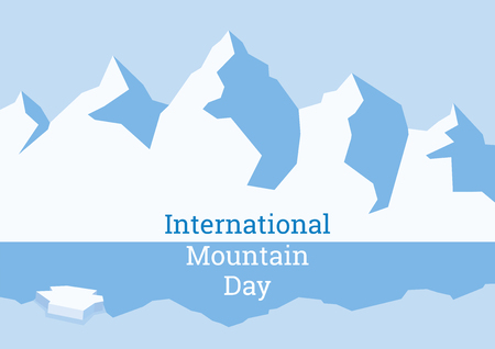 International Mountain Day vector. Winter mountains vector illustration. Background with a polar landscape. Arctic landscape background. Important day Illustration