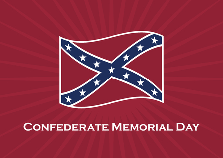 Confederate Memorial Day vector. Confederate flag vector. Public holidays in the USA. Important day