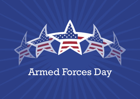 Armed Forces Day Vector. Vector illustration of stars and stripes. Abstract flag of the United States. Important day Иллюстрация