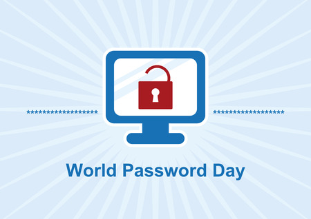 World Password Day vector. Vector Illustration Keywords: Computer graphic icon. Important day