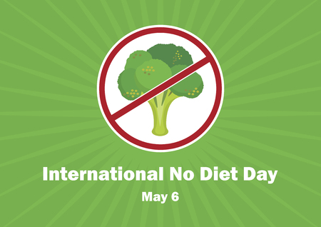 National No Diet Day vector. Stop broccoli vector. Ban Broccoli Vector Illustration. May 6th is International No Diet Day. Important day