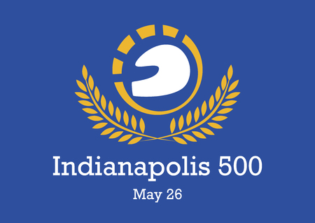 Indianapolis 500 Vector. Car icons vector. Race logo design. Indianapolis Motor Speedway, May 23, 2019. Important Day