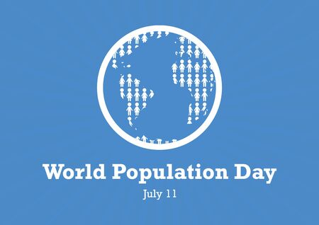 World Population Day vector. World Population Day vector. Overpopulated planet vector illustration. Stylized Planet Earth vector. Global population problem. World Population Day Poster, July 11th Important day