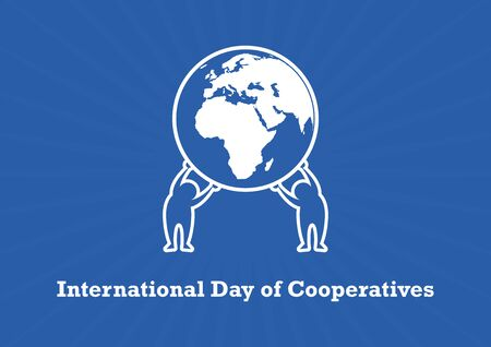 International Day of Cooperatives Vector. People Holding Earth Vector. Human cooperation icon. Cooperation vector people. Important day