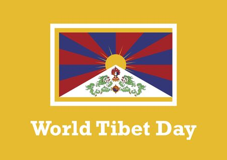 World Tibet Day vector. Tibetan flag vector. Tibetan flag isolated on white background. Important day