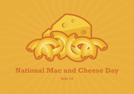 National Mac and Cheese Day vector. Macaroni and Cheese vector. Pasta with cheese icon. National Mac and Cheese Day Poster