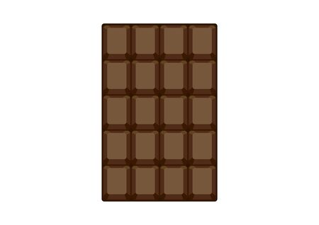 Chocolate bar icon vector. Chocolate isolated on white background. Chocolate bar vector illustration 向量圖像