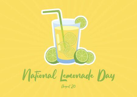 Vector Illustration Keywords: Vector Illustration Keywords: Vector Illustration Keywords: Lime on green background. Lemon slice icon. Green lime vector. Lemonade Day Poster