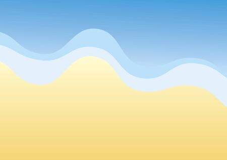 Blue water and sand vector. Vector Illustration Keywords: Vector Illustration Keywords: Summer background with sea. Ocean vector illustration Çizim