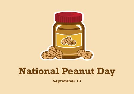 Vector Illustration Keywords: Vector Illustration Keywords: American delicacy. Peanut Day Poster, September 13th. Important day