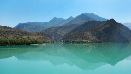 Tajikistan lakes and mountains stock images. Tajikistan mountain landscape stock images. A beautiful Tajikistan mountain landscape with a lake