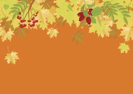 Vector Illustration Keywords: Autumn leaves border. Vector Illustration Keywords: Vector Illustration Keywords: Vector Illustration Keywords: