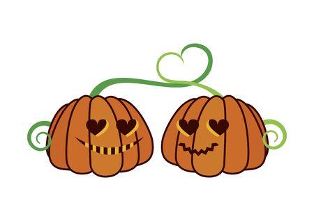 Vector Illustration Keywords: Vector Illustration Keywords: Halloween pumpkin cartoon character. Halloween pumpkin isolated on white background