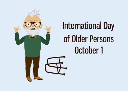 Vector Illustration Keywords: Elderly cartoon character. Abused seniors vector. Punk grandpa cartoon character. Vector Illustration Keywords: Young boy. Vector Illustration Keywords: Ilustração