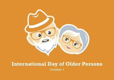 Vector Illustration Keywords: Vector Illustration Keywords: Vector Illustration Keywords: Elderly cartoon character. Loving couple of pensioners - vector. Elderly couple icon