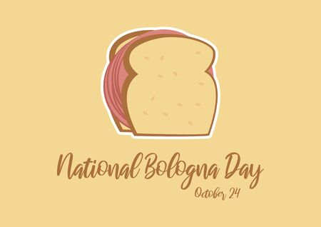 Vector Illustration Keywords: Salami sandwich icon. Bologna sandwich vector. American Food & Beverage Holiday. Important day Vectores