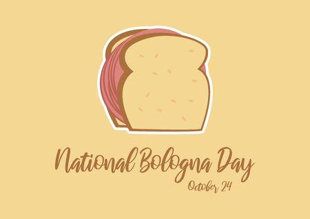 Vector Illustration Keywords: Salami sandwich icon. Bologna sandwich vector. American Food & Beverage Holiday. Important day Illusztráció