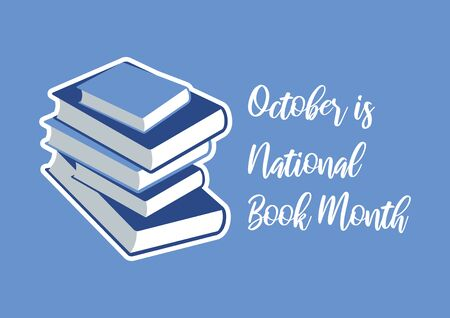 Vector Illustration Keywords: Vector Illustration Keywords: Blue books icon. October is Book Month