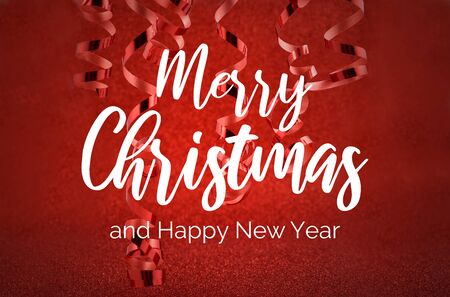 Merry Christmas and Happy New Year. Festive red background. Happy New Year 2020 Christmas background