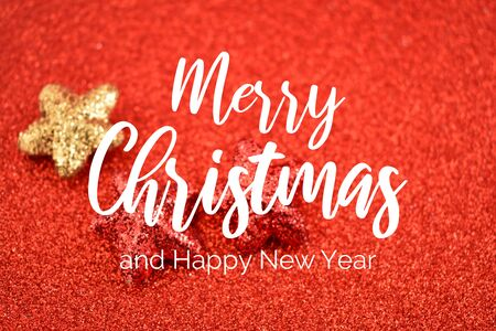 Merry Christmas and Happy New Year. Festive red background. Happy New Year 2020 Christmas background Фото со стока - 132487808