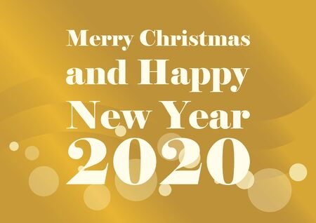 Golden Merry Christmas and Happy New Year 2016 vector. Happy New Year Inscription on golden shiny background. Festive golden background. Happy New Year 2017 Sign Фото со стока - 132487815