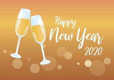 Golden Happy New Year 2020 Vector Illustration Keywords: Vector Illustration Keywords: Festive golden background. Shiny golden background