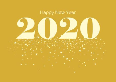 Happy New Year inscription on golden background. Happy New Year 2017 Sign. Golden Happy New Year 2016 on a starry background vector Фото со стока - 132487816