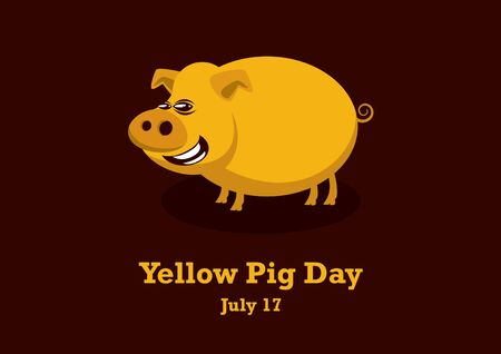 Vector Illustration Keywords: Pig cartoon character. Important day Stok Fotoğraf - 133097920