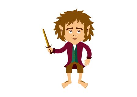 Vector Illustration Keywords: Hobbit vector. Hobbit isolated on white background