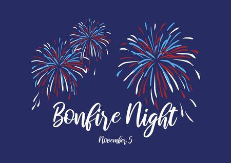 Bonfire Night Poster Vector Illustration Keywords: Vector Illustration Keywords: Vector Illustration Keywords: Bonfire Night Poster, November 5th. Important day Reklamní fotografie - 133103086