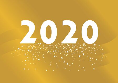New Year 2020 Vector Illustration. Happy New Year 2017 Sign. Golden Happy New Year 2016 on a starry background vector Иллюстрация
