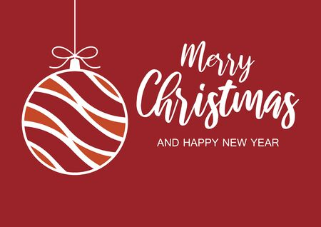 Merry Christmas and Happy New Year Sign. Christmas greeting card. Vector Illustration Keywords: Vector Illustration Keywords: Иллюстрация