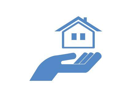 Mortgage business icon vector. Mortgage business icon vector. Hand with house icon. Vector Illustration Keywords: Vector Illustration Keywords: Фото со стока - 134170558