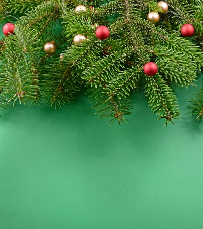 Christmas green frame stock images. Christmas tree decoration stock photography Christmas tree branch. Beautiful Christmas background Фото со стока
