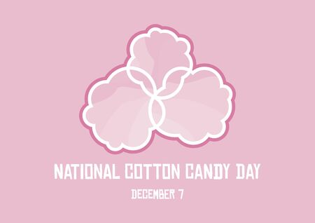 Vector Illustration Keywords: Pink cotton candy. Vector Illustration Keywords: Sugar cloud icon. Cotton Candy Day Poster Foto de archivo - 135140523