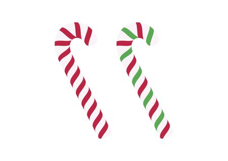 Candy cane stick icon set vector. Graphic candy cane isolated on a white background. Xmas candy vector. Sweet Christmas symbol. American sweet food Фото со стока - 135160630
