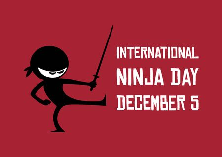 Vector Illustration Keywords: Ninja cartoon character. Ninja isolated on a white background. Vector Illustration Keywords: Ninja Day Poster Фото со стока - 135161709