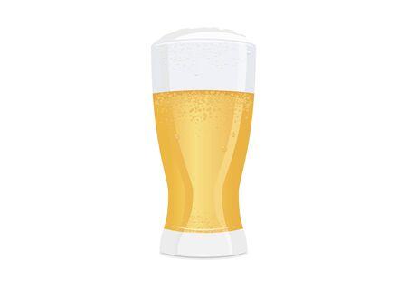 Vector Illustration Keywords: Fresh lager icon. Vector Illustration Keywords: Glass of beer isolated on white background Иллюстрация