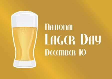 Vector Illustration Keywords: Vector Illustration Keywords: Fresh lager icon. Glass of beer. Glass of beer isolated on white background. Lager Day Poster, December 10