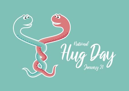 Vector Illustration Keywords: Two intertwined snakes vector. Snake cartoon character. Vector Illustration Keywords: Snakes in love icon