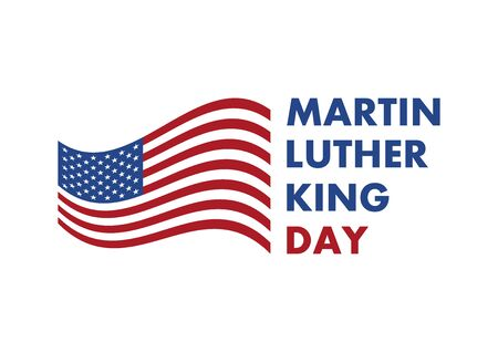 Martin Luther King Jr. Day vector. American hero icon. American flag vector. Martin Luther King Day icon isolated on white background. American federal holiday. Important day Иллюстрация
