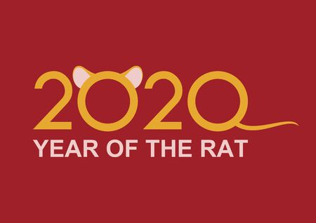 Chinese New Year 2020 vector. 2020 Chinese New Year Sign. 2020 year rat symbol vector