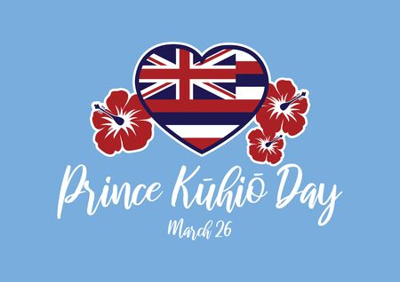 Vector Illustration Keywords: Hawaii Flag Heart Shape Vector. Hawaiian background with hibiscus. Important day