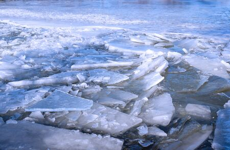 Floating ice floes. Iced winter background. Blue ice background. Ice winter texture stock images
