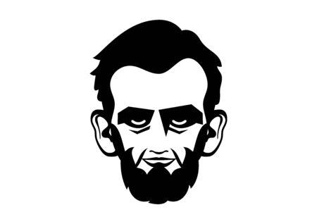 Vector Illustration Keywords: President Abraham Lincoln vector icon. Abraham Lincoln head isolated on a white background